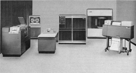 Ordinateur IBM 1401 - formation informatique et ressources humaines - JL Gestion - bruxelles