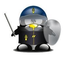 Mascotte Linux policier - formation informatique et ressources humaines - JL Gestion - bruxelles
