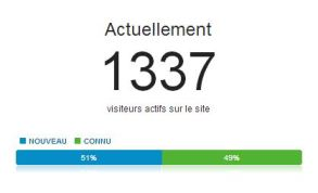 Illustration visiteurs actifs sur Google Analytics